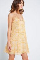 BCBGeneration Printed A-Line Dress - Brown