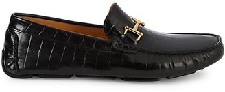 Saks Fifth Avenue Croc-Embossed Leather Bit Drivers