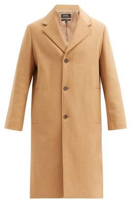A.P.C. Sacha Single-breasted Wool-blend Felt Coat - Beige