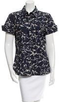 Michael Kors Batik Print Button-Up Top