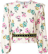 RED Valentino ruffled floral blouse