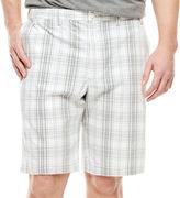 Izod Plaid Cotton Shorts - Big & Tall