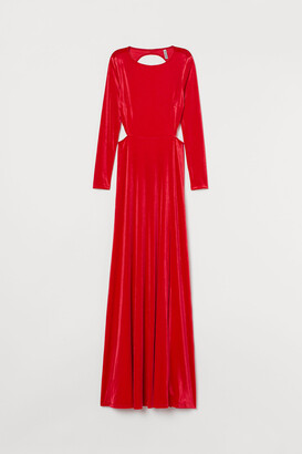 H&M Long Velour Dress