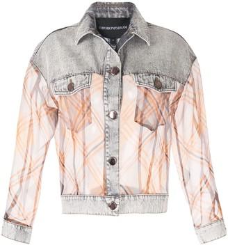 Emporio Armani Contrast Sheer Denim Jacket