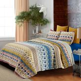 Jazmin Floral Reversible Full/Queen Quilt Set in Citrine