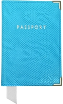 Aspinal of London Aquamarine Lizard Passport Cover