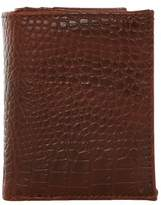 Topman Mens Oxblood Red Crocodile Cardholder