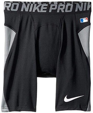 Nike Pro Heist Slider Baseball Short (Little Kids/Big Kids) (Black/Cool Grey/White) Boy's Shorts