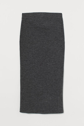 H&M MAMA Ribbed Skirt - Black