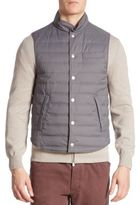 Brunello Cucinelli Quilted Wool & Silk Blend Vest