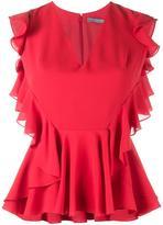 Alexander McQueen ruffle-trimmed sleeveless blouse
