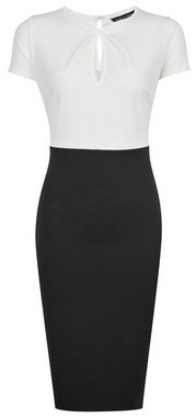 Dorothy Perkins Womens **Black And White Pencil Dress, Black