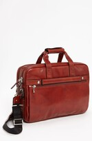Thumbnail for your product : Bosca Double Compartment Leather Briefcase