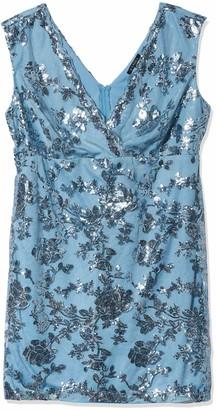 Marina Women's Plus-Size Short Dress in Floral Lace