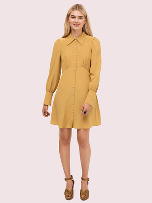 Kate Spade Silk Point Collar Shirtdress