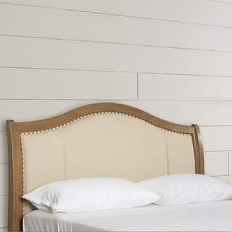 Beachcrest Home Duck Island Upholstered Panel Headboard Size: Queen