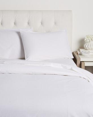 Boho Bed Wide Crochet Duvet Set White