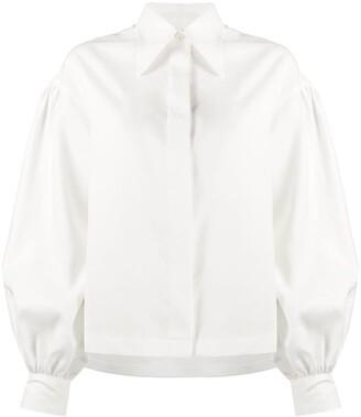 Deveaux Linen Balloon Sleeve Shirt