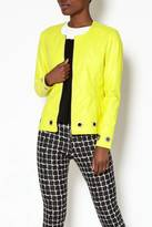 INSIGHT NYC Yellow Faux Leather Blazer