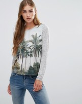 Maison Scotch Long Sleeve Printed Top