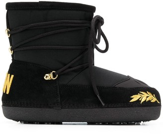 DSQUARED2 Icon embroidered snow boots