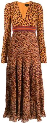 Saloni floral-print dress