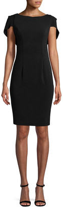 Carmen Marc Valvo Solid Ruffle Dress
