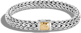 John Hardy Women's Classic Chain 7.5MM Hammered Clasp Bracelet, Sterling Silver, 18K