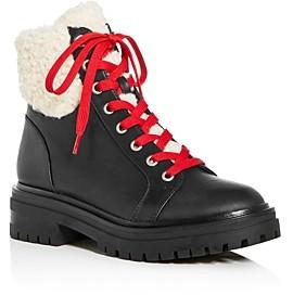 Kenneth Cole Women's Rhode Faux-Fur Waterproof Combat Boots