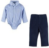 Andy & Evan Infant Boy's Chambray Bodysuit & Pants Set