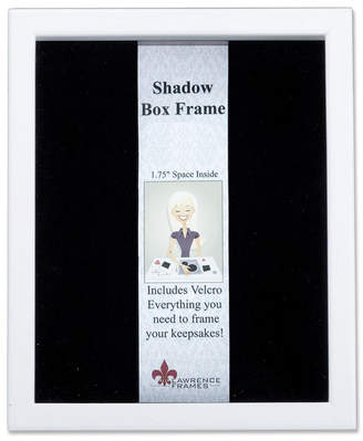 """Lawrence Frames 790280 White Wood Shadow Box Picture Frame - 8"""" x 10"""""""