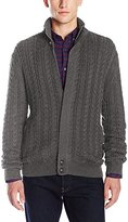 French Connection Men's Cable Guy Full Zip Sweater