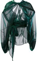 Maison Margiela sheer draped effect blouse - women - Nylon/Polyester - 42