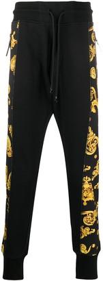 Versace Baroque-Print Panelled Sweatpants