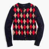 J.Crew Lightweight wool Jackie cardigan sweater in argyle