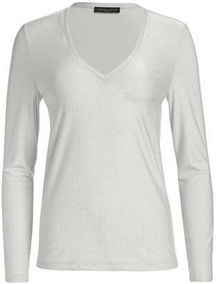 Fabiana Filippi Lurex Jersey Knit Long-Sleeve Shirt