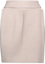 M Missoni Pleated Stretch Open-Knit Mini Skirt