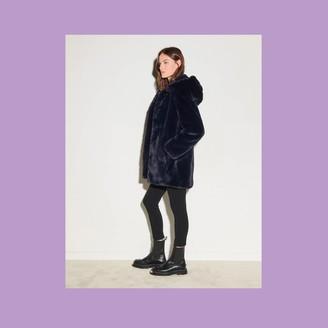 Sandro Faux fur coat