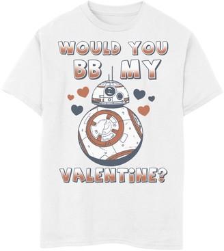 Star Wars Boys 8-20 Valentine's Day Would You BB Mine Tee