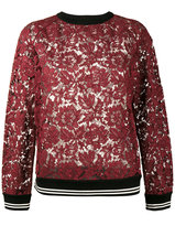Valentino lace sweatshirt - women - Cotton/Polyamide/Viscose - S