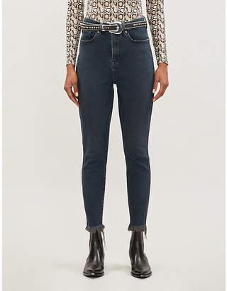 Good American Cood Curve Raw Edge skinny high-rise jeans