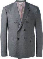 Thom Browne double breasted blazer - men - Cotton/Cupro/Wool - 3
