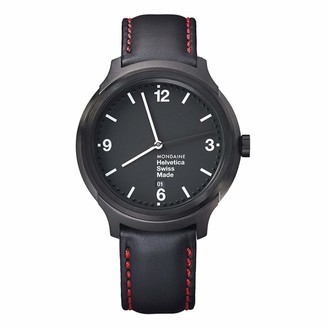 Mondaine Helvetica No1 Wrist Watch for Men New York Edition (MH1.B1221.LB) Swiss Made