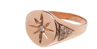 Jacquie Aiche 14kt Rose Gold Star Signet Ring