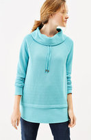 J. Jill Relaxed Waffle-Knit Cowl-Neck Top