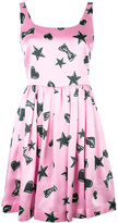Moschino star print dress - women - Silk/Viscose - 38