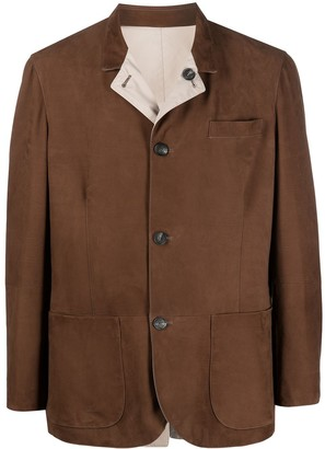 Brunello Cucinelli Reversible Button-Up Suede Jacket