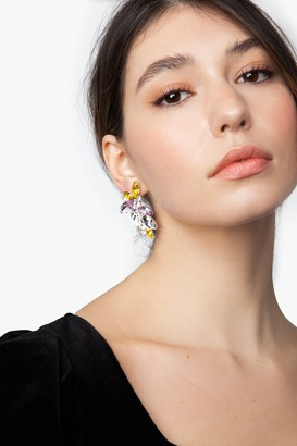 Topshop Crystal Cluster Stud Earrings
