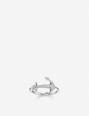 Thomas Sabo Anchor sterling silver and cubic zirconia ring