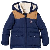 Cyrillus Navy Padded Coat with Zip-Off Sleeves